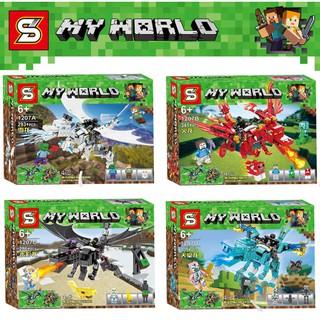 Lego lắp ráp xếp hình mô hình Minecraft My world Rồng Ender Lửa Băng Nước SY1207SY