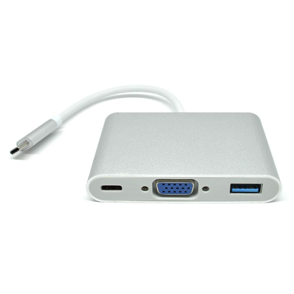 Cáp Chuyển USB TYpe C Sang Vga Và USB 3.0 + Type C - USB-C