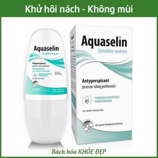 Aquaselin sensitive women 50ml Lăn khử mùi không mùi cho nữ mồ hôi nách nhẹ - Dùng cho mọi loại da thumbnail