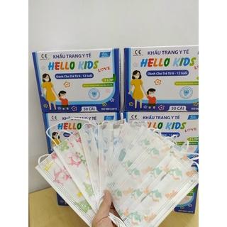 Khẩu trang yt trẻ em Hello Kids hộp 50 cái