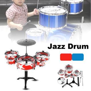 KUDUER Mini Jazz Drum Rock Kids Education Percussion Musical Instrument Fun Toy Gift