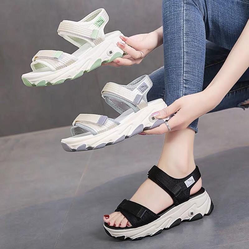 Sandal nữ 2 quai mẫu mới 2020- sẵn hàng 3 màu