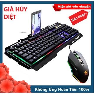 Combo Bàn Phím LED Giả Cơ G700 Và Chuột Chơi Free Wolf V1 Led RGB Chơi Game Cực Đẹp thumbnail