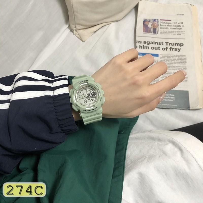 ĐỒNG HỒ NỮ DÂY CAO SU SHHORS 274C FORM TRÒN THỂ THAO CỰC ĐẸP