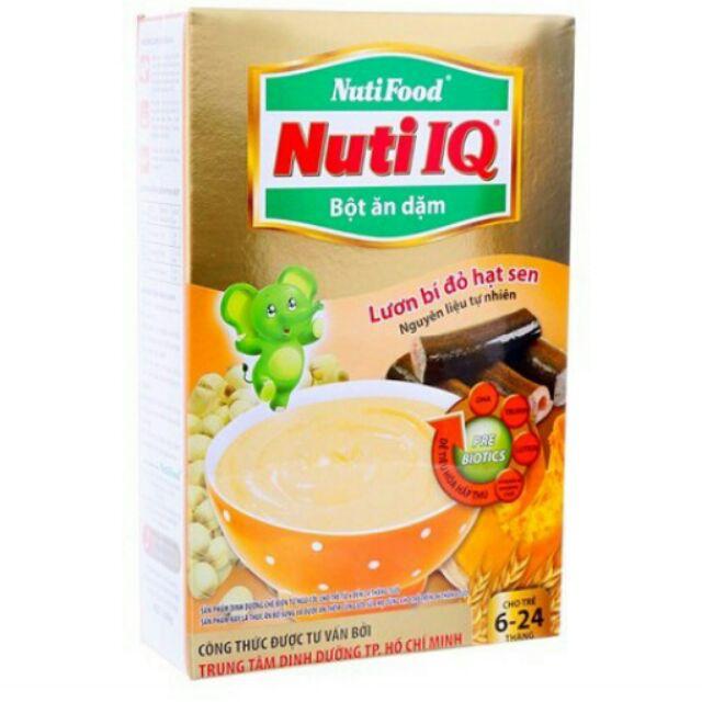 Bột ăn dặm Nuti IQ Lươn bí đỏ cho trẻ từ 6-24 tháng 200g