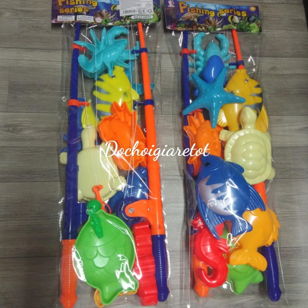 [Freeship50k] Bộ câu cá 2 cần đồ chơi cho bé, đồ chơi hồ bơi