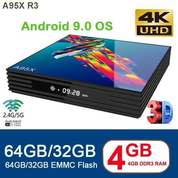 NEW Android 9.0 A95X R3 Smart TV BOX 6K Resolution RK3318 Chip Quad Core 64 bit Dual WIFI HDM2.0
