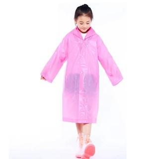 Áo mưa trẻ em nhiều màu sắc đơn giản cho bé 4-10 tuổi AM002 thumbnail
