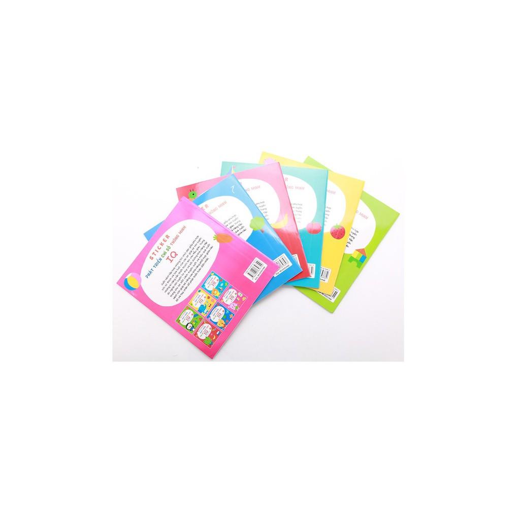 Sách - Combo Sticker Phát Triển Chỉ Số Thông Minh IQ dành Cho Trẻ Từ 2-6 Tuổi (Bộ 6 Cuốn)