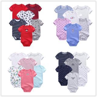 6 pcs newborn bodysuit baby clothes romper cotton short sleeve summer breathable pajamas suit 0-12m