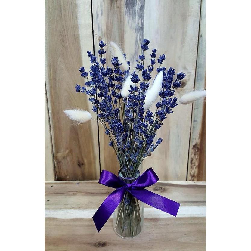 Lọ Hoa Khô Oải Hương Lavender Mix Cỏ Đuôi Thỏ