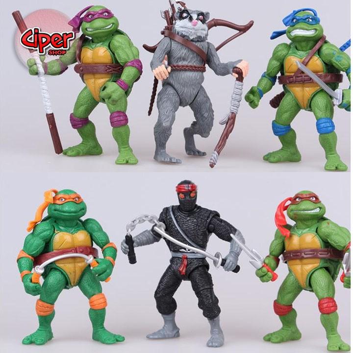 Bộ 6 nhân vật Ninja rùa 2014