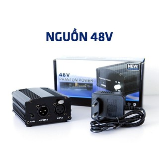 Nguồn Phantom 48V Cho Micro Thu Âm Condenser, giành cho mua kèm micro PC-K200, PC-K320, PC-K500, PC-K600