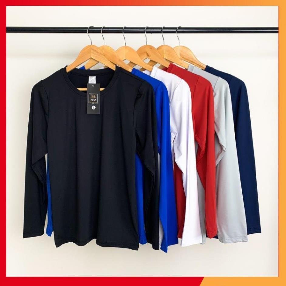 Hàng Cao Cấp -  FreeShip -  Áo giữ nhiệt nam Áo dài tay áo thể thao nam 6 màu trơn