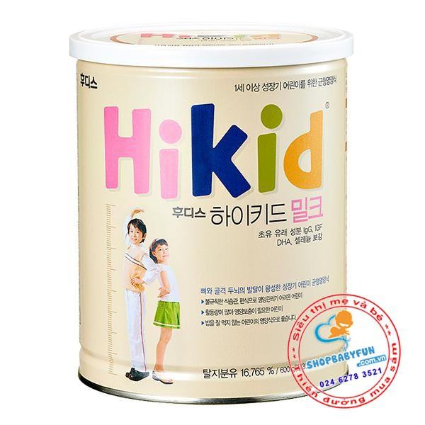 Sữa Hikid Vani 600g -Tăng cân và chiều cao toàn diện