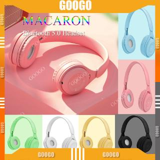 [NEW]Macaron Bluetoothe 5.0 Wireless Headphone Bluetooth Headphone HiFi Stereo Headphone Wireless with Microphone Earphone