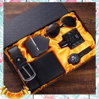 SIÊU RẺ [OD 30 NGÀY] Full set phụ kiện nam càvạt + nước hoa + mắt kính ví , dây nịt