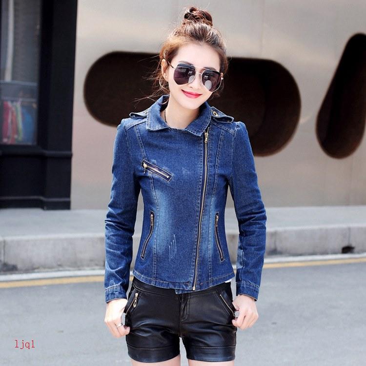 Áo Khoác Jeans Tay Dài Thời Trang Cá Tính Cho Nữ
