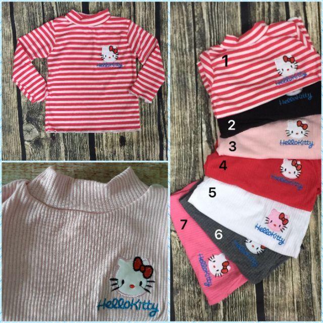 Sale shock set 3 áo gân cotton cổ 3p bé gái chọn sz chọn màu bé 10-22kg