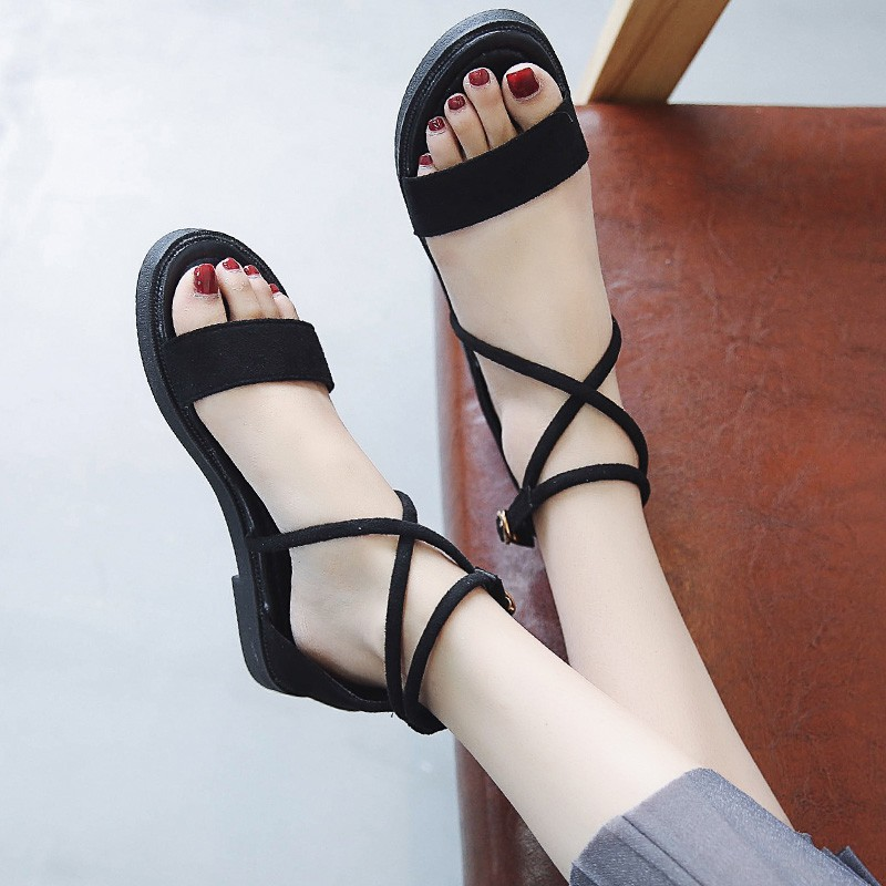 Sandals Ladies wear the new Korean version of the summer 201
