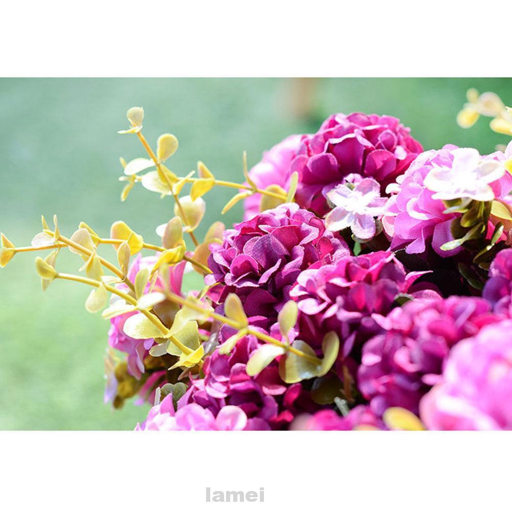 10 Heads DIY Gift Handmade Home Hydrangea Silk Party Wedding Decoration Artificial Flower