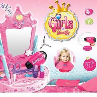 đồ chơi bé gái bàn trang điểm cắt tóc dễ thương