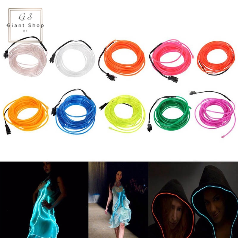 EL Wire Neon Glowing Light Battery Powered Waterproof LED Strips for Halloween Christmas