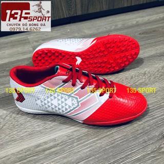 Giày đá bóng giá rẻ Sigo Đỏ trắng(Combo giày + Túi rút + Hộp) thumbnail