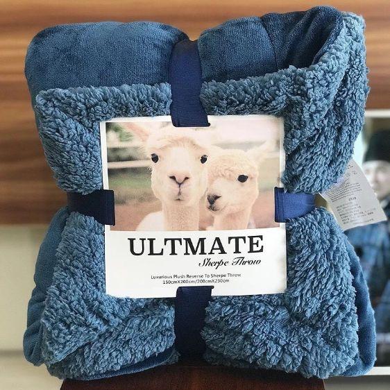 Chăn lông cừu untimate 2018 siêu ấm ( 2m x 2m3 nặng 2,3kg)