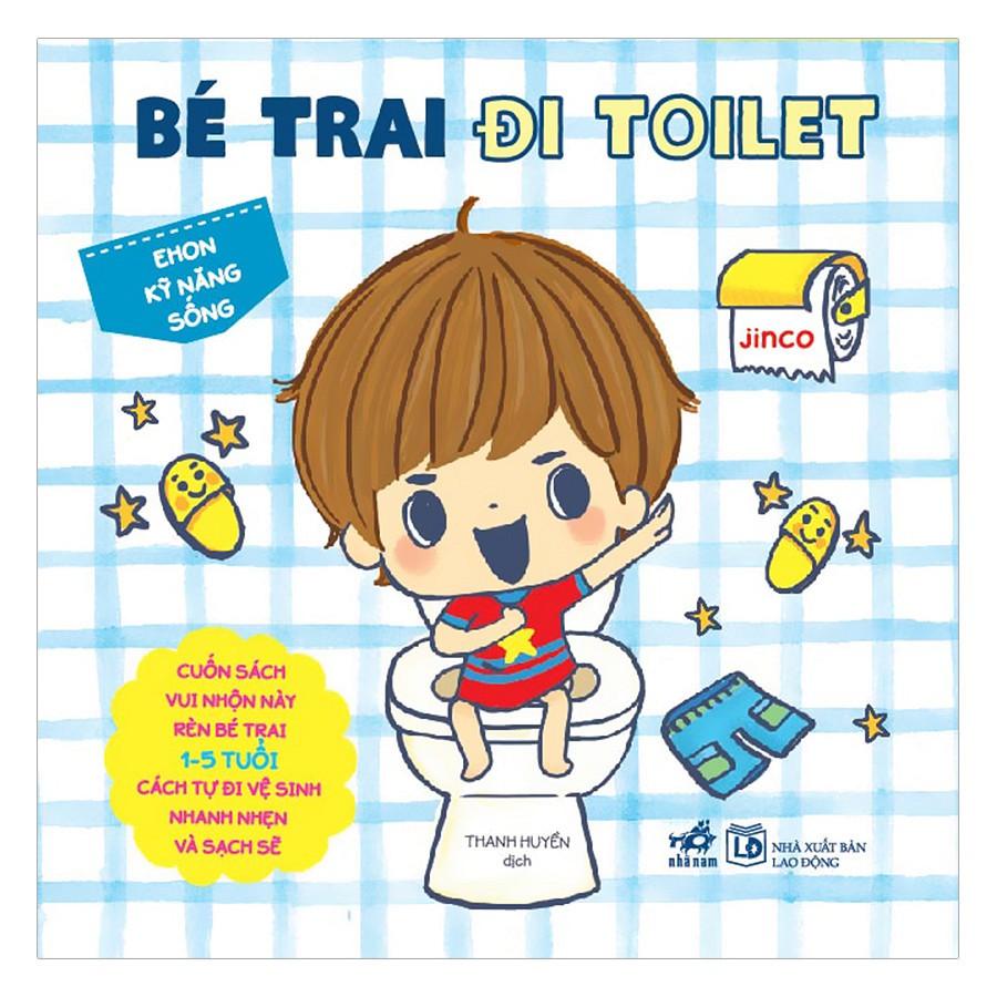 Cuốn sách Ehon Nhật Bản - Bé Trai Đi Toilet - Tác giả: Jinco