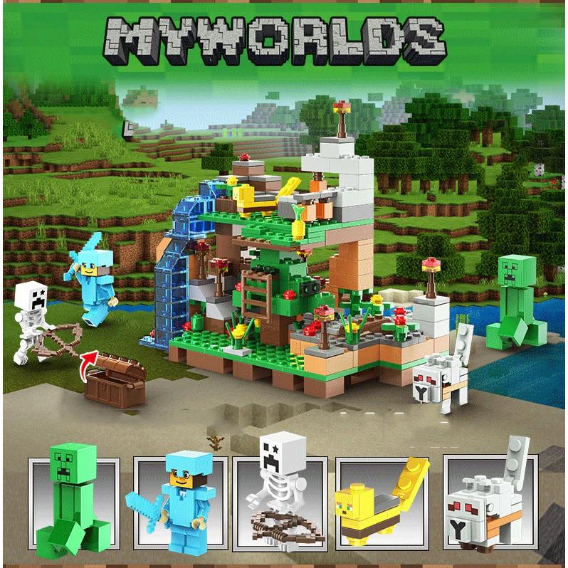 [XẢ KHO]Lego Minecraft Thác Nước Huyền Bí💖Lego Minecraft My World thuộc chuỗi Lego Giá rẻ [QUÀ TẶNG SIÊU HOT]