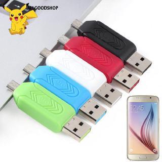 Đầu đọc thẻ Micro USB OTG TF bằng chất liệu ABS cho điện thoại/PC