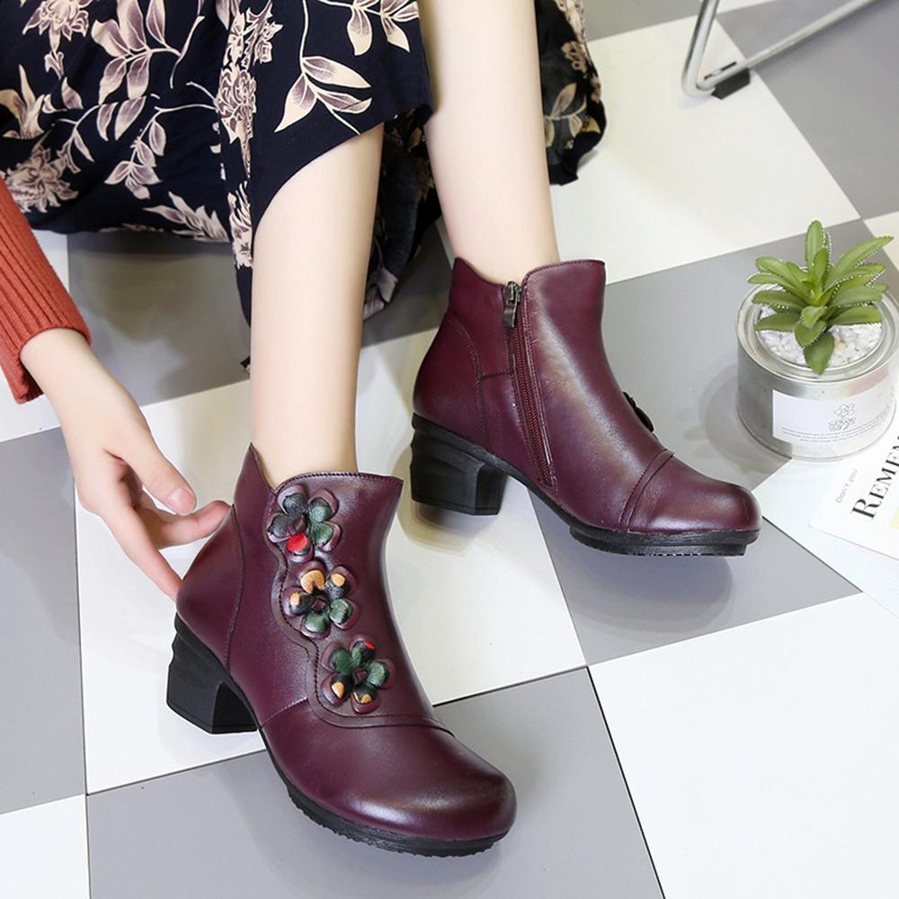 giày boot nữ da thật