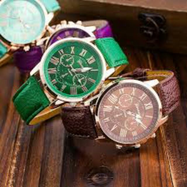 Sale off Đồng Hồ Geneva dây da cực thời trang nhìu màu