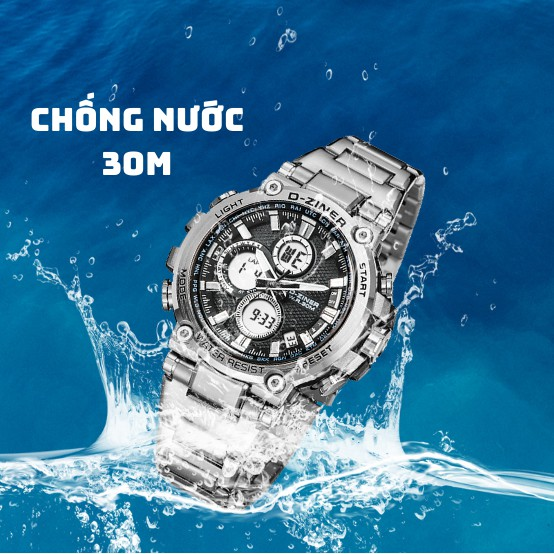 Đồng Hồ Nam D-ZINER DZ8275 Chính Hãng Cao Cấp Chất Liệu Thép Không Gỉ Chống Nước 30M