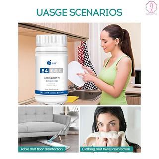 100Pcs/Bottle Chlorine Effervescent Tablets Water Instant Dissolve Home Air Floor