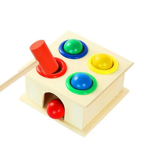 🐰Toystory🐰 Wooden Toys Hammer Wood Toy Early Learning Educational Toys Instrument Gift