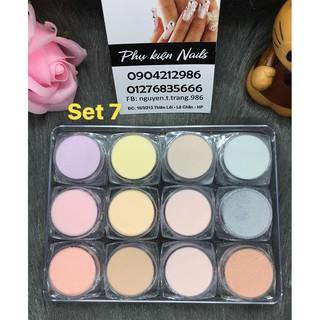 Set bột Mỹ 3in1 (tự chọn màu) làm hoa đắp móng 12 hũ/set (đơn giá/ 1set).