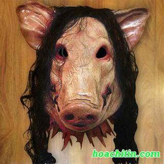 Mặt nạ cao su heo pig saw – MẶT NẠ HALLOWEEN KINH DỊ