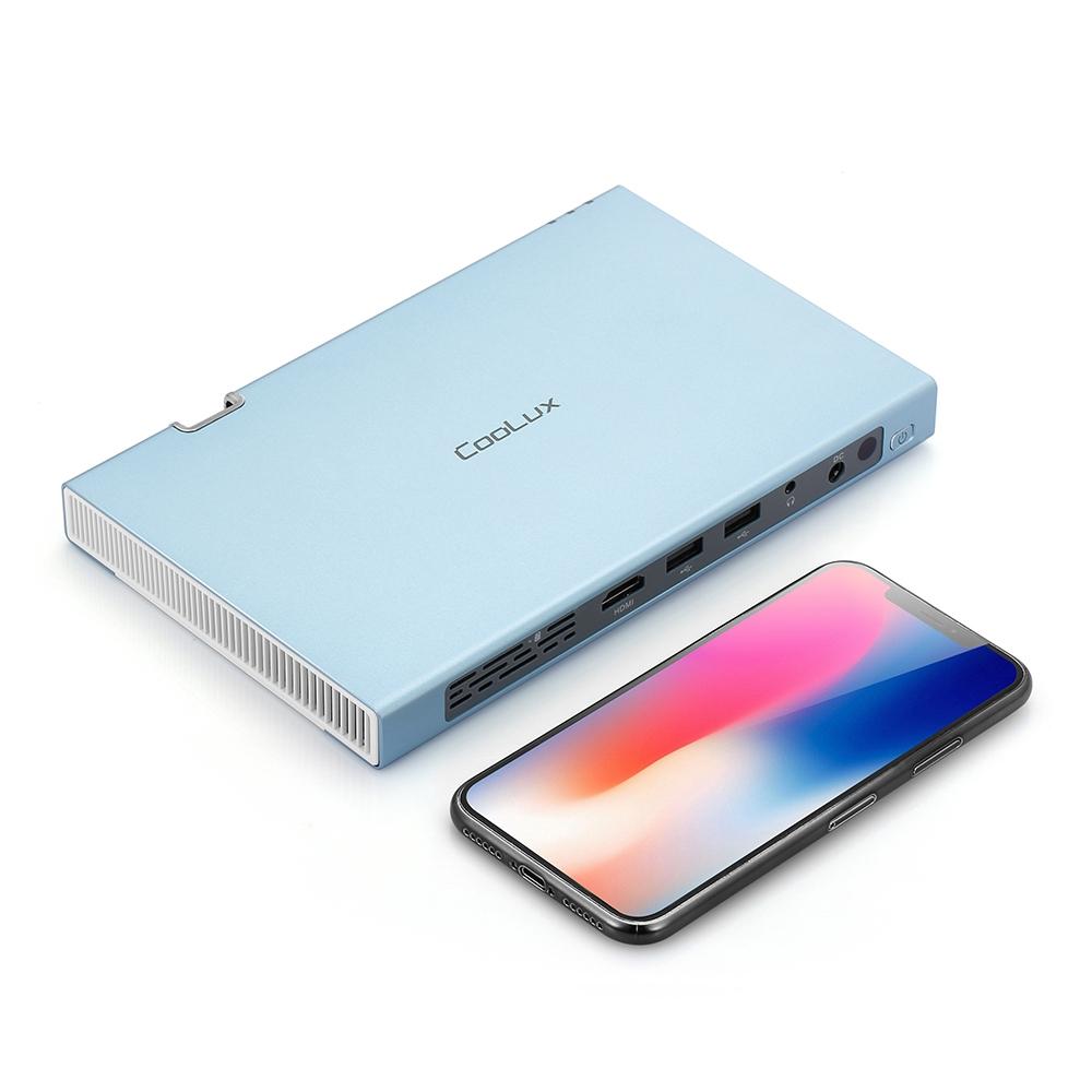 Máy chiếu di động Coolux X6S 300 ANSI Lumens Dual Core CPU / 2.4G + 5G WiFi / 2000:1 / Support 1080P Giá chỉ 11.000.000₫