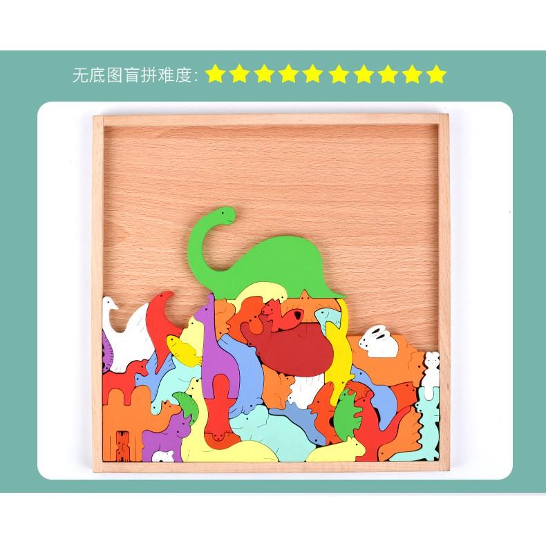 💝CAO CẤP💝Khung gỗ ghép hình động vật 3D – Đồ chơi thông minh cho bé 5 6 7 8 9 tuổi – Đồ chơi trí tuệ cho bé 5 6 7 8 tuổi