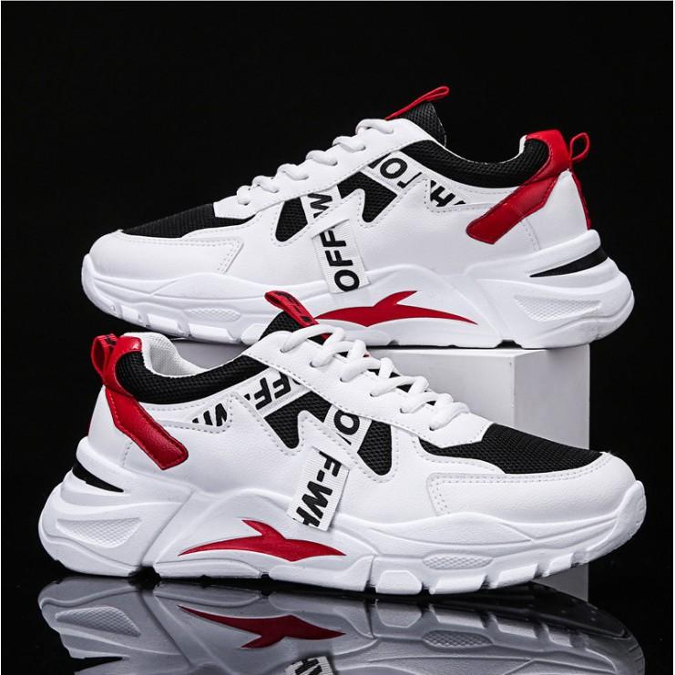 Giày nam đẹp, giày nam Sneaker thể thao phối chữ siêu HOT SP - 330