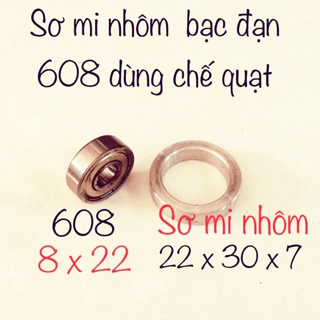 COMBO 2 SẢN PHẨM BẠC 608 & SƠ MI NHÔM DÙNG ĐỂ CHẾ BẠC THAU SANG BẠC ĐẠN
