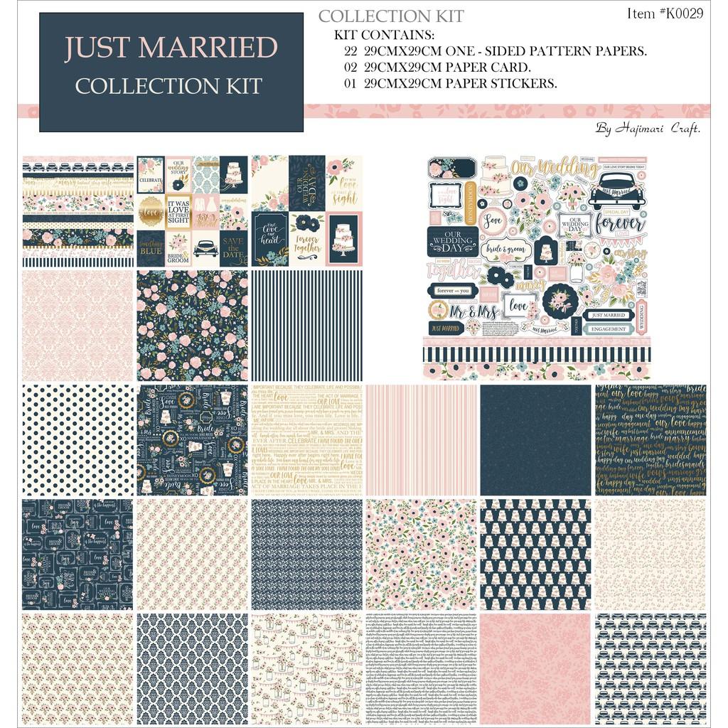 Giấy Scrapbook 29: Just Married - Hajimari Craft