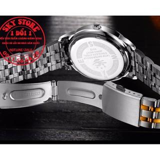 Đồng hồ nam BOSCK japan movt 1982 day thép không gỉ cao cấp + Tặng kèm vòng tay tỳ hưu may mắn