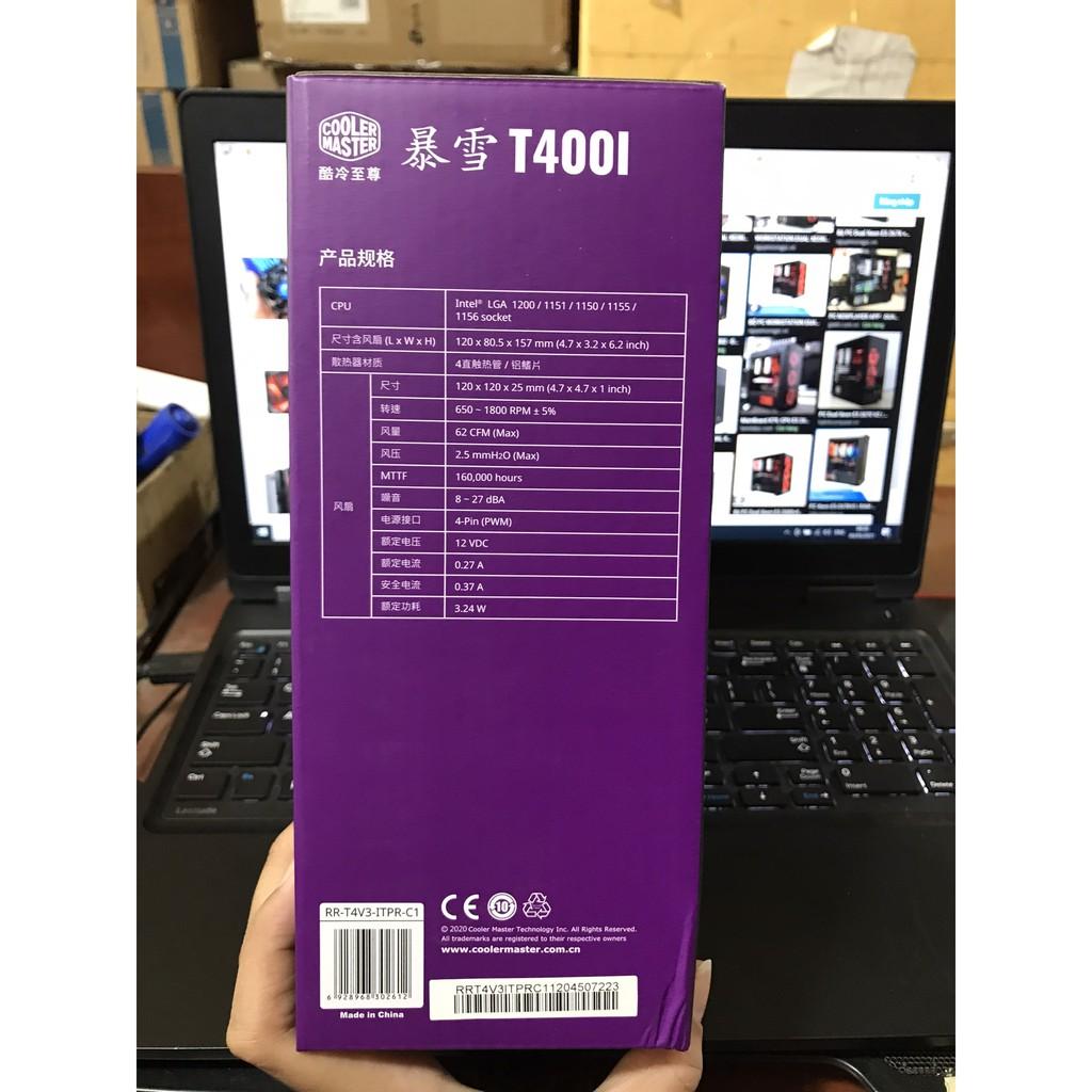 [Mã 267ELSALE hoàn 7% đơn 300K] Quạt Tản Nhiệt CPU Cooler Master T400L - Hàng Chính Hãng