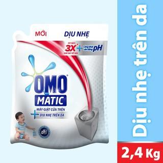 Nước giặt Omo dịu nhẹ trên da 2.4kg  MSP 67225244