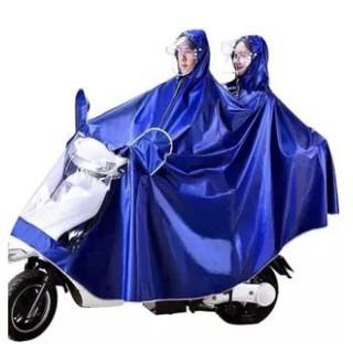 ÁO MƯA 2 ĐẦU CAO CẤP KHÔNG CHE ĐÈN XE MÁY VẢI DÙ, cho tình nhân gia đình hai người, kính trong suốt phủ đèn, raincoat