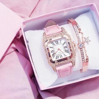 Đồng hồ nữ chính hãng DIMINI dây da cao cấp mặt vuông thời trang Hàn Quốc đẹp cá tính giá rẻ thumbnail