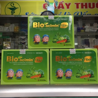 Cốm vi sinh Bioacimin Fiber hỗ trợ điều trị táo bón cho trẻ.
